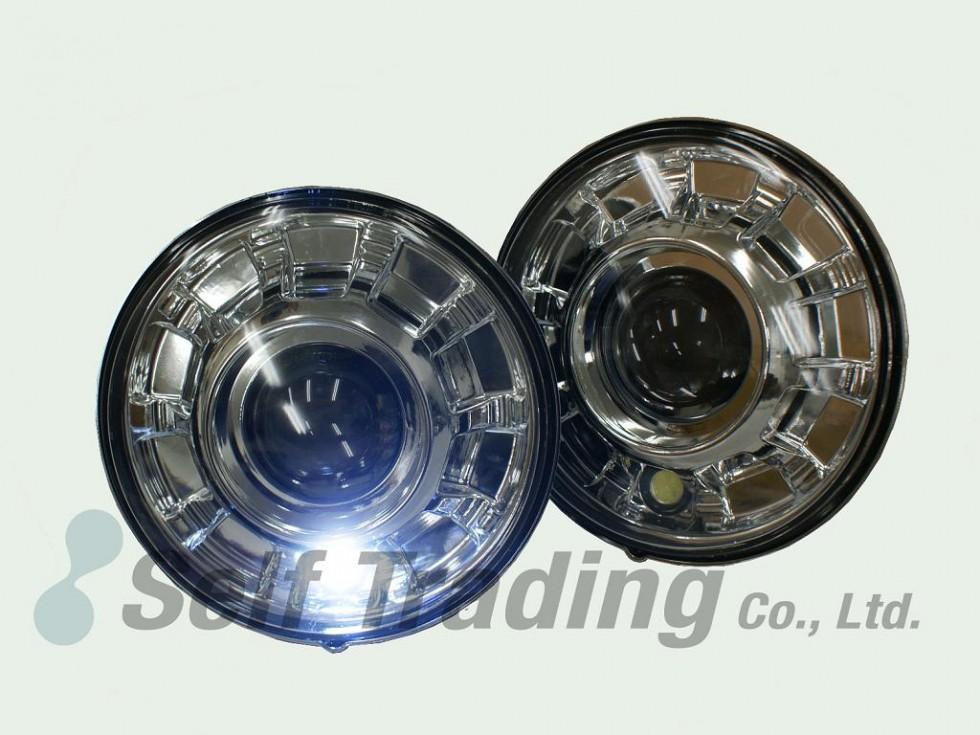 2 Round Projector Head Lights